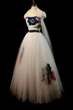 amazing tulle wedding gown @Etsy