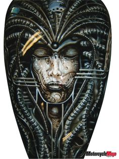 Giger Style Airbrush tank - Best Airbrush Art Images, Videos and Galleries: share, rate thousand of Pictures and discover the latest uploads! - Just Airbrush Custom Paint Motorcycle, Motorcycle Tank, Custom Paint Jobs, Custom Cars, Biker News, Custom Airbrushing, Air Brush Painting, Airbrush Art, Detail Art