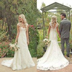 Perfect wedding dress. Hot Sale Trumpet/Mermaid Court Train Lace Country Wedding Dress. #Wedding #Dress