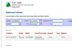 """""""I am getting paid daily at ACX and here is proof of my latest withdrawal. This is not a scam and I love making money online with Ad Click Xpress."""" """"Here is my Withdrawal Proof from AdClickXpress. I get paid daily and I can withdraw daily. Online income is possible with ACX, who is definitely paying - no scam here."""" """"I WORK FROM HOME less than 10 minutes and I manage to cover my LOW SALARY INCOME. http://www.adclickxpress.com/?r=Zlatibor&p=aa"""
