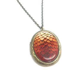 Orange Drachen Ei Medaillon Halskette - http://schmuckhaus.online/fallen-saint/orange-drachen-ei-medaillon-halskette