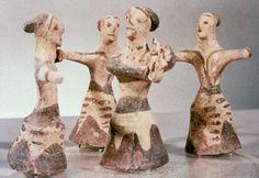 Palaikastro, Crete, Circle Dance, c. Ancient Greek Sculpture, Ancient Greek Art, Ancient Greece, Mycenaean, Archaic Greece, Minoan Art, Ancient Music, Ancient Goddesses, Ancient Civilizations