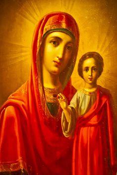 Russian Orthodox religious Icons.