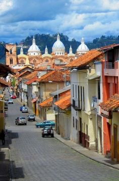 Cuenca, Ecuador - @brikkityrock This is totally the street where Isabella the camera was stolen! I mean, maybe. Wait, is that Roxanne on the left?! Hand it over, missy.