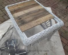 How to Replace a Glass Tabletop with a Rustic Wood Tray