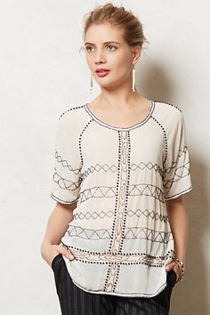 Beaded Poeme Top #anthropologie