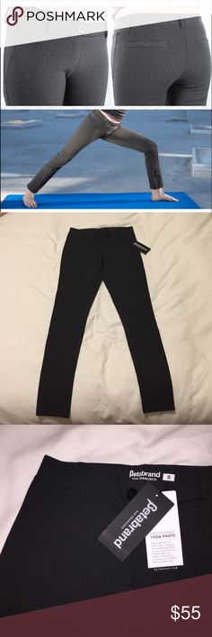 Dress Pant Yoga Pants Never worn. quality material, comfortable. Ordered online but didn't like how they fit me (happens a lot with pants for me) and I missed the return window. Charcoal gray Betabrand Pants Leggings