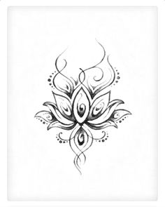 Traditional lotus flower tattoo design with ohm sign tattoos love the swirly appearance mightylinksfo