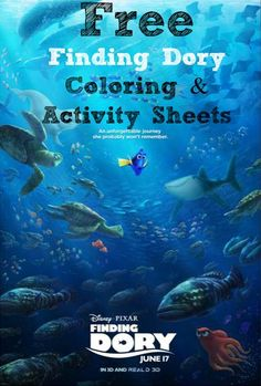 Free Finding Dory Movie Coloring and Activity Sheets