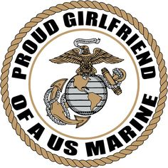 Proud Girlfriend of a US MARINE CORPS Soldier by FiveStarStickers