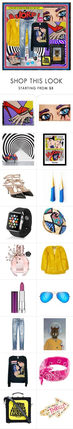 """Pop Culture Art for the group Melting Pop"" by deborah-518 ❤ liked on Polyvore featuring DOMESTIC, Valentino, Little Lucia, Apple, Jimmy Crystal, Viktor & Rolf, Maybelline, Ray-Ban, rag & bone and Olympia Le-Tan"