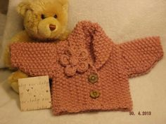 PDF Knitting Pattern  Premature to 3 months Baby Cardigan, Quick and Easy knits up in a few hours using Chunky Wool