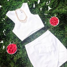 White on white is always right for warm weather!