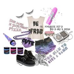~lets not pretend that youre alone tonight, i know hes there~ by amberundead on Polyvore featuring Hello Kitty, Lime Crime and shu uemura