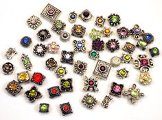 25 Swarovski Metal Casting 2 holed Slider Beads by ArteCrafts