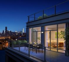 Terrace at The Industry at 21-45 44 Drive #outdoorspace #terrace #relaxing #NYC #views #homedecor