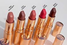 Beauty Professor: My 5 Favorite Charlotte Tilbury Matte Revolution Lipsticks