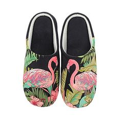 e6cf085efcd4db Extra Off Coupon So Cheap Colias Wing Flamingo Pattern Warm Winter Indoor  Outdoor Slippers for Women