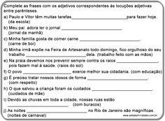 Atividades adjetivo e locução adjetiva prontas para imprimirSala de Atividades