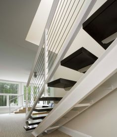Photo gallery of ultra-tec stainless steel cable railing systems used in decks, stairs and other residential cable railing applications Wood Railing, Steel Railing, Metal Railings, Balcony Railing, Stainless Steel Cable Railing, Stainless Steel Cleaner, Commercial Stairs, Cable Railing Systems, Home Additions