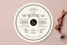 Vintage Ampersand Wedding Invitations by Jennifer Wick at minted.com