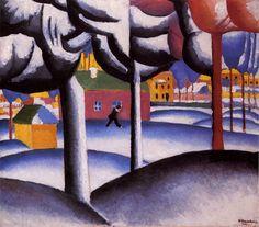 Kazimir Malevich (Russian, 1879-1935) - Winter, 1909