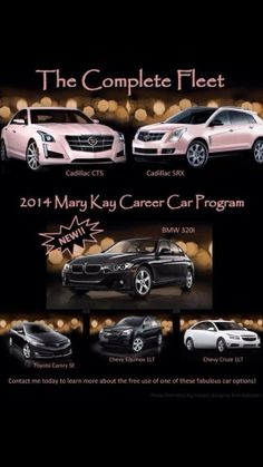 Look at a the 2014 lineup of Mary Kay cars you can earn and drive for free.  I can tell you how.