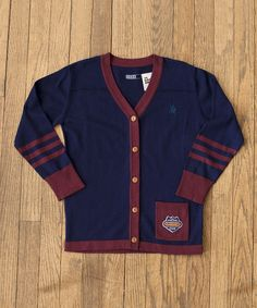 Love this Blue & Burgundy 'Zoo Zurich' Cardigan - Infant, Toddler & Boys by The Good Ones on #zulily! #zulilyfinds