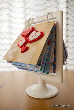 Adventskalender mit Fotos und Schokolade im Rahmen – Verscrappt.de