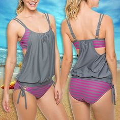 SWIMSUIT TWO PIECES SUIT SIZE MONOKINI – Fashionbonline
