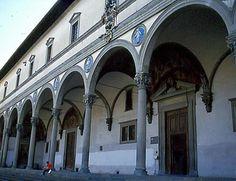 Filippo Brunelleschi, Porticato dell' Ospedale degli Innocenti, dal 1419. Firenze. .