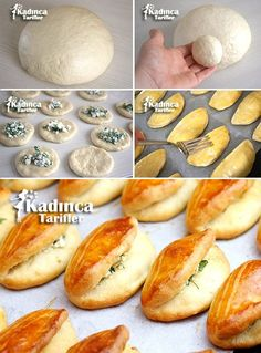 Mayasız Pratik Poğaça Tarifi Empanadas, Brioche, Bread Recipes, Cooking Recipes, Lemon Cream Cheese Bars, Cute Food, Yummy Food, Tea Time Snacks, Turkish Recipes
