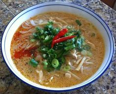 Phanessa's Kitchen: Khao Poon Nam Phik (Spicy Coconut Noodle Soup)