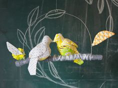 birds on branch mobile