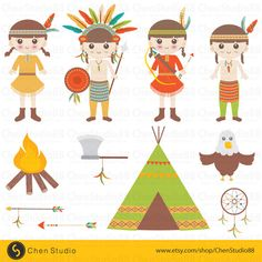 American Indian vector - Digital Clipart - Instant Download - EPS, PNG files included - FREE Small Commercial Use by ChenStudio88 on Etsy https://www.etsy.com/listing/240559695/american-indian-vector-digital-clipart