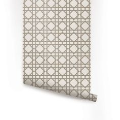 Geometric Grey Peel & Stick Fabric Wallpaper by AccentuWall, $35.00