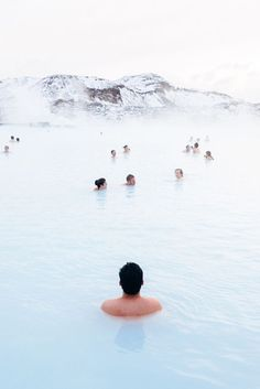 Blue Lagoon Hot Springs in Iceland.