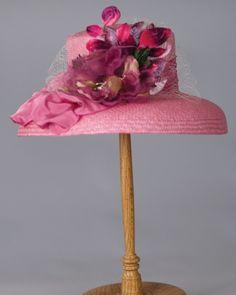 3210CTPA Charlotte, panama, hot pink w/fuchsia