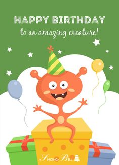 Happy Birthday to an amazing creature Happy Birthday Song Download, Thank You For Birthday Wishes, Belated Birthday Wishes, Birthday Songs, Birthday Quotes, Birthday Greetings, Birthday Gifts, Happy Birthday Beautiful, Thank You Quotes