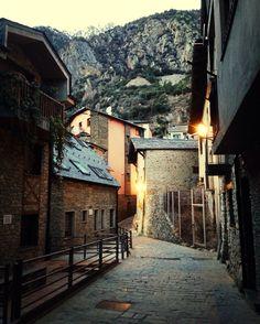 In a little street in Andorra La Vella