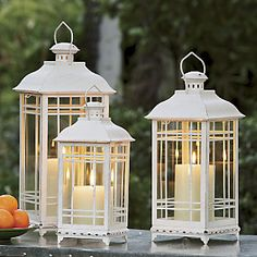 Set of 3 Candlelit Coach Lanterns from Through the Country Door®