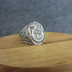 Vintage, Sterling Silver, FFA Ring, Eagles, Balfour Sterling, Future Farmers of America, size 11.5, Silver, Mens by BonfireStudio on Etsy