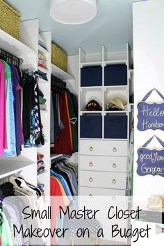small walk-in closet updated for more organized storage