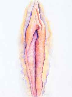 'I am Bliss' Yoni portrait in beautiful soft but luminous transparent colour. Prints and greeting cards are available.