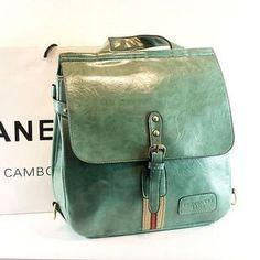 Neutral oil leather shoulder bags vintage School of England wind schoolbag backpack Joker Japanese Korean leisure bag