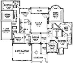 Image result for house plan first floor gameroom and media room