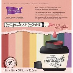 "Signature Series Graphic 45 Cardstock Pad 12""X12"" 30/Pz - Lights"