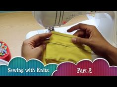 SUBSCRIBE HERE: http://full.sc/LmYEYg  This video is Part 2 in a new series of tutorials I'm working on just for those of you that are still afraid to tackle stretch knit fabric. It's not that difficult... and I will show you that through the course of this series.  In this Part 2 video I cover some important information about working with knits ...