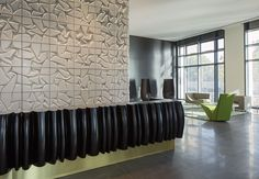 W - PRIME LOBBY by Cappellini: on Designbest photos, images and project sheet Hall Interior Design, Lobby Interior, Reception Counter, Lobby Design, Design Design, Lobbies, Home Goods, Tiles, Lounge