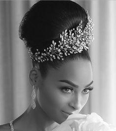 Such a glam, gorgeous bride! Her custom designed, bridal head piece and up do a. Headpiece Wedding, Bridal Headpieces, Wedding Bride, Black Wedding Hairstyles, Bride Hairstyles, Wedding Hair And Makeup, Wedding Hair Accessories, Hair Pieces, Bridal Style